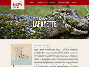 Page du site Louisiana Trip